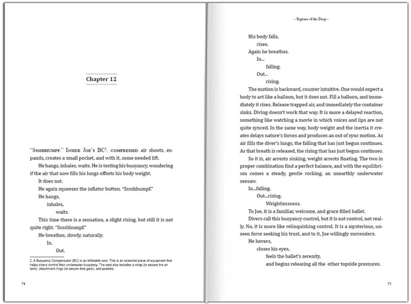 sample of fiction book layout